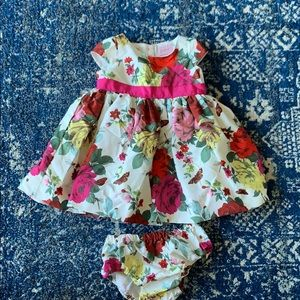 Baker by Ted baker floral dress and bloomers 6-12m